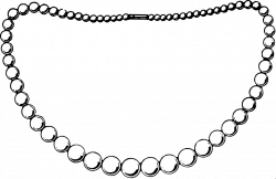 28+ Collection of Necklace Clipart Black And White Png | High ...