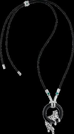 CRHP700834 - Panthère de Cartier necklace - Platinum, emeralds, onyx ...