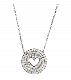 Silver Heart Round Pendant PNG Image - PurePNG | Free transparent ...