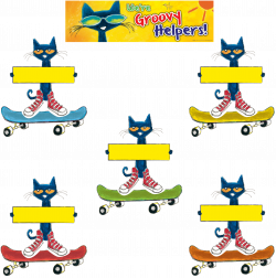 Pete the Cat Groovy Classroom Jobs Mini Bulletin Board | Job chart ...