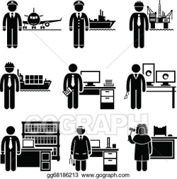 Vector Art - High income professional jobs. EPS clipart ...