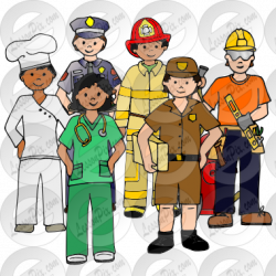 Jobs Picture for Classroom / Therapy Use - Great Jobs Clipart