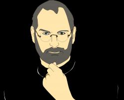 Clipart - Steve Jobs Portrait