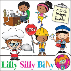 Clipart Jobs - Occupations images for children's education, Educational  graphics, Commercial use clipart of cute children.