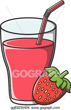 Vector Stock - Strawberry juice doodle . Stock Clip Art ...