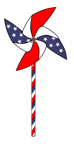Clipart - July 4th Pinwheel Animation