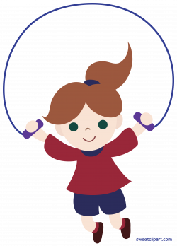 Girl Jumping Rope Clip Art - Sweet Clip Art