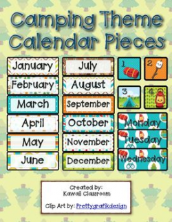 Camping Calendar Pieces | Camping Classroom Theme ...