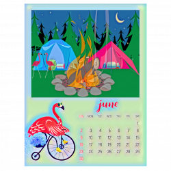 June Camping Calendar