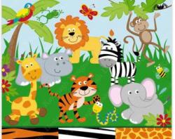 Jungle Animals Clipart and Digital paper ,Jungle clipart, Animals ...