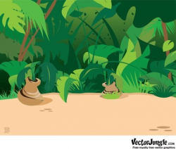 Free Jungle Scene Backgrounds Clipart and Vector Graphics ...
