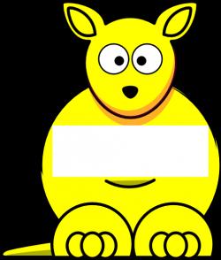Yellow Sightword Kangaroo Clip Art at Clker.com - vector ...