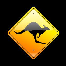 Public Domain Clip Art Image   Kangaroo Sign   ID: 13534161614712 ...