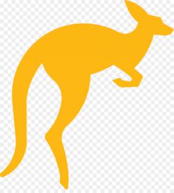 Kangaroo Cartoon clipart - Kangaroo, Yellow, Wildlife ...