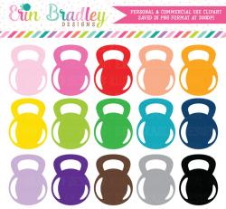 Kettlebell Clipart, Gym and Exercise Clip Art – Erin Bradley/Ink ...