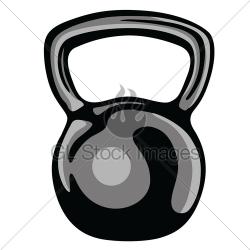 Kettlebell Fitness Equipment Clipart · GL Stock Images