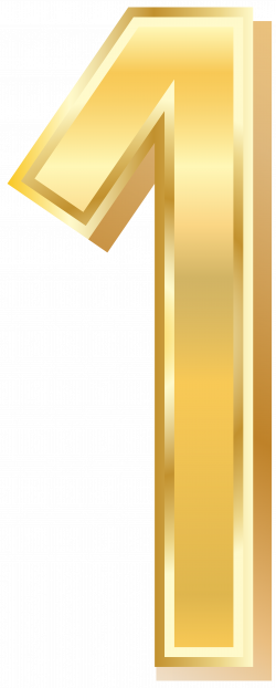 Gold Style Number One PNG Clip Art Image | Gallery Yopriceville ...