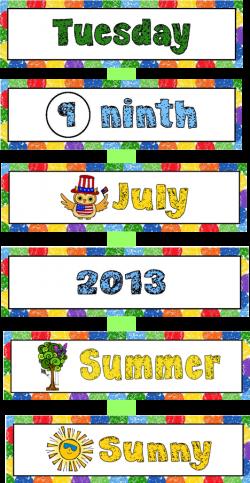 Calendar Kit - Materials | Preschool calendar, Calendar time and ...