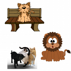 Persian cat Kitten Pet sitting Clip art - Three colors of the ...