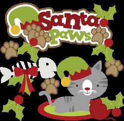 Santa Paws SVG cat clipart cat svg cute cat clip art christmas svg ...