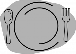Plate With Knife And Fork Png. Simple Plate Clipart Fork Logo With ...