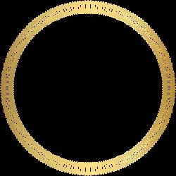 Gold Round Deco Border Transparent Clip Art Image   Boardes ...