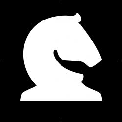 Clipart - Chess Piece Symbol – White Knight – Caballo Blanco