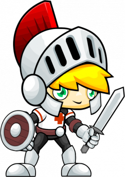 Clipart - Golden Haired Knight Kid