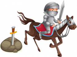 Horse Knight Photography Illustration - Cartoon Knight 800*590 ...