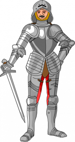 Clipart - medieval knight