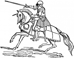 Free Knight Clipart Black And White, Download Free Clip Art ...