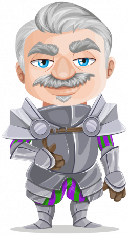 OnlineLabels Clip Art - Senior Knight Warrior In Armor, Without Weapons