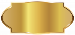 Golden Label Template PNG Image   Gallery Yopriceville - High ...