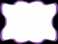 Purple Wavy Stitched Frame - Free Clip Art Frames