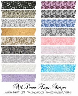 digital lace tape strips (washi tape) by Sweetly Scrapped   Artist ...