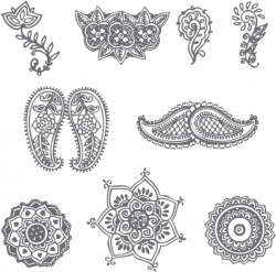 These are a few very simple henna patterns. Description from hdwalls ...