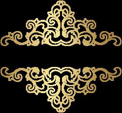 Gold Ornament PNG Clip Art Image | photo | Pinterest | Art images ...