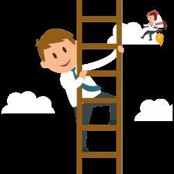 Cartoon Businessperson Graphic design Illustration - Man climb the ...