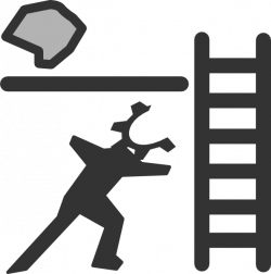 Person With Ladder And Rock Clip Art at Clker.com - vector clip art ...