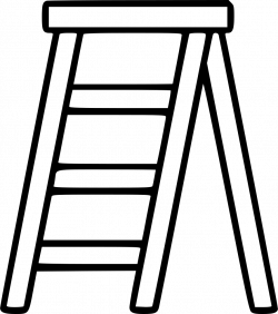 Stepladder Stairs Tool Concept Build Work Repairing Svg Png Icon ...