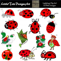 Ladybug Clipart - Ladybug Clip Art - Digital Lady Bug Clipart - Lady Bug  Clip Art - Red Ladybug Digital Clip Art - Instant Download