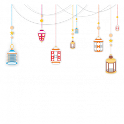 Chandelier Ramadan Lamp Light Hanging Top Border, Png Lamp, Ramadan ...