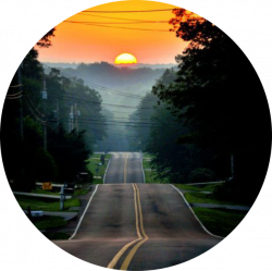 circle icon background backgrounds road circles sunsets...