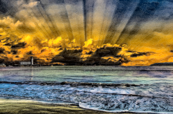 Clipart - Sea Sunset Daily Sketch