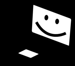 Happy Laptop Clip Art at Clker.com - vector clip art online, royalty ...
