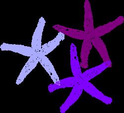 Purple Starfish Clipart