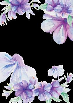 Wedding invitation Flower Watercolor painting Purple - Hand painted ...