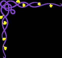Purple Vine Yellow Flower Clip Art at Clker.com - vector clip art ...
