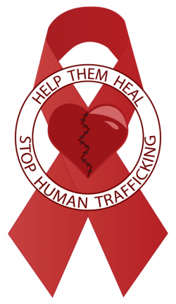 Stop Human Trafficking ribbon   Anna & Modern Day Slavery ...