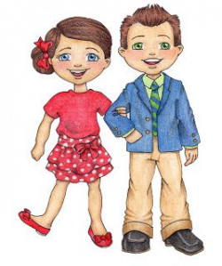 Primary girl & boy - darling clipart | Singing Time | Lds ...